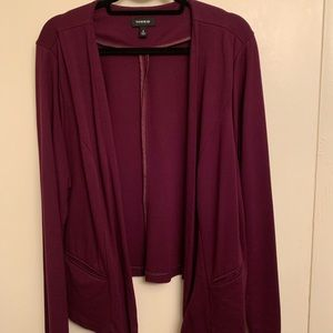Plum diagonal front jacket